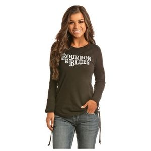 """""""ROCK & ROLL COWGIRL"""" COWGIRL GRAPHIC - BLACK"""